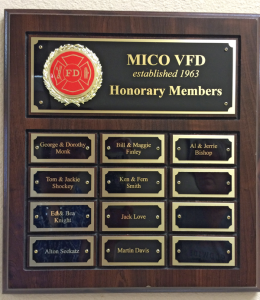 Honorary Members of MVFD